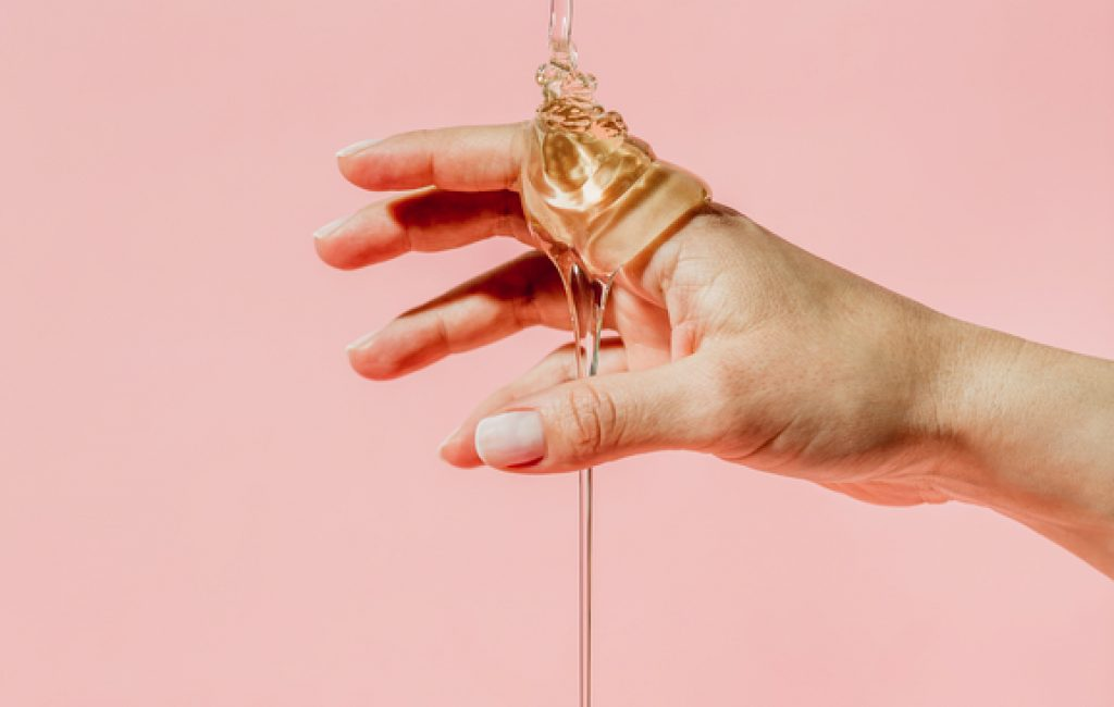 Hand with honey